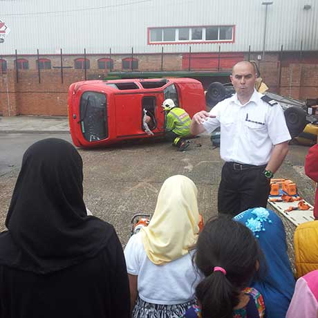 RTA demo at Highgate Fire Station