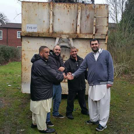 Organised a skip for community