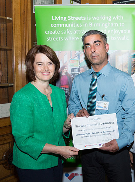 MP Jane Ellison presenting award for our walking activity